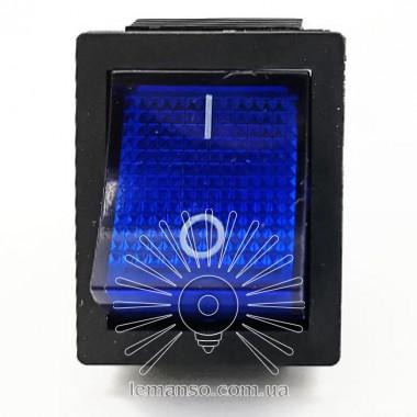 Переключатель Lemanso  LSW02 большой синий с подсв. / KCD2-201\N описание, отзывы, характеристики