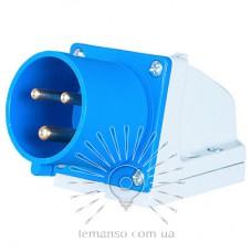 Вилка стационарная LM2031 (ВС) Lemanso 32А/3п (2п+н) 220-240V IP44 синяя / упак=2шт
