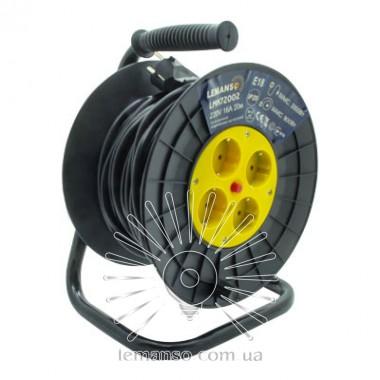 Удлинитель-катушка LMK72002 4 гнезда 20м 16A с/з Lemanso защита от перегрузки, макс нагр 800-3000Вт описание, отзывы, характеристики