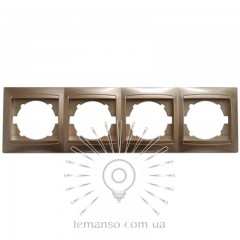 Рамка 4-я LEMANSO Сакура золото горизонтальная  LMR1213