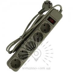 Удлинитель Lemanso с/з+кнопка 1,5м 5 гнезд / LMK058 + фильтр сетевой