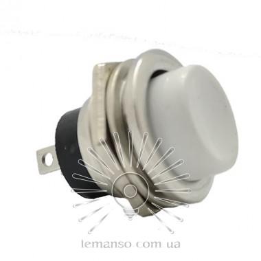 Кнопка Lemanso LSW14 круглая белая металл OFF-(ON)/ DS-212 описание, отзывы, характеристики