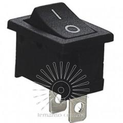 Переключатель Lemanso LSW08 малый чёрный / KCD1-101-1