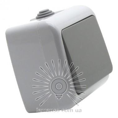 Выключатель накладной 1-й промежуточный LEMANSO Немо серый LMR2407 описание, отзывы, характеристики