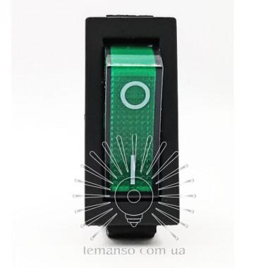 Переключатель  Lemanso  LSW01 узкий зелёный с подсв. / KCD3-102N описание, отзывы, характеристики