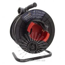 Удлинитель-катушка LMK72014 1 гнездо 2+48м 16A с/з Lemanso защита от перегрузки, макс нагр 800-3000Вт