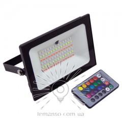 Прожектор LED 50w RGB+пульт IP65 LEMANSO чорний / LMP76-50 RGB