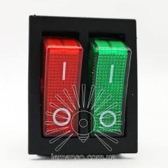 Переключатель  Lemanso  LSW04 двойной красно/зелёный с подсветкой / KCD2-2101N