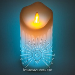 Свеча LED Lemanso 75*150мм RGB 3xAAA (нет в компл.) IP20 / LM36008 (+пульт, еф. пламя)