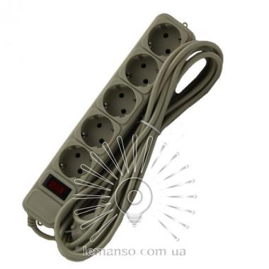Удлинитель Lemanso с/з+кнопка 5 м 5 гнезд / LMK060 + фильтр сетевой описание, отзывы, характеристики