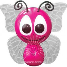 Nightlight Lemanso Butterfly 4 LED*RGB with sensor pink / NL14