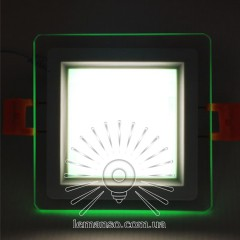 LED panel Radiance Lemanso 6W 450Lm 4500K + green 85-265V / LM1038 square + glass