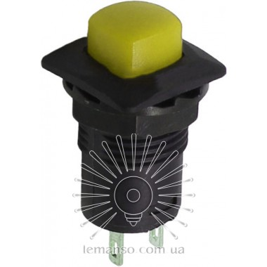 Кнопка Lemanso LSW12 квадрат жёлтая с фикс. ON-OFF/ DS-226 описание, отзывы, характеристики