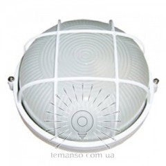 Светильник LEMANSO круг метал. 60W с реш. BL-1302 белый