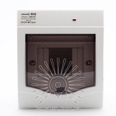Коробка под 2-4 автоматы LEMANSO накладная, ABS LED индикатор / LMA115 описание, отзывы, характеристики