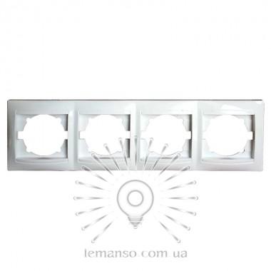 Рамка 4-я LEMANSO Сакура белая вертикальная LMR1034 описание, отзывы, характеристики
