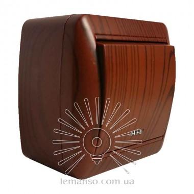 Выключатель накладной 1-й  + LED подсветка LEMANSO Магнолия вишня  LMR2209 описание, отзывы, характеристики
