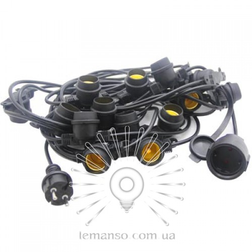 Garland IP65 Lemanso 15 x E27 + cable 10m + fork (IP44) / LMA502 (only LED)  - description, characteristics, reviews