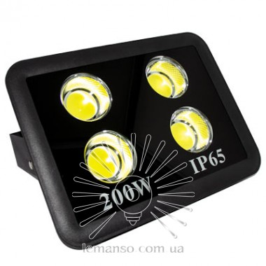 Прожектор LED 200w 6500K 4LED IP65 18000LM LEMANSO чёрный/ LMP14-200 описание, отзывы, характеристики