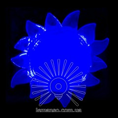 Ночник Lemanso Солнце голубой 4 LED / NL151