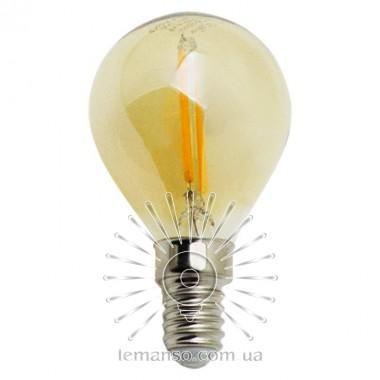 Лампа Эдисона Lemanso св-ая 2W G45 E14 160LM 2200K 220-240V, золотая / LM3800 описание, отзывы, характеристики