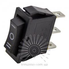 Переключатель  Lemanso  LSW18 узкий чёрный 3 пролож. с фикс./ KCD3-103