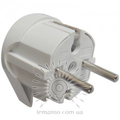 Plug corner earthed white UPS small Lemanso LMA029