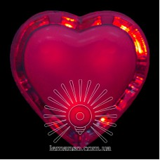 Ночник Lemanso Сердце красный 3 LED / NL4