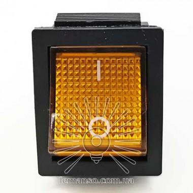 Переключатель  Lemanso  LSW02 большой жёлтый с подсв. / KCD2-201\N описание, отзывы, характеристики