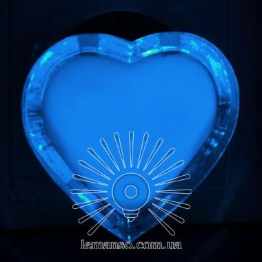 Ночник Lemanso Сердце голубой 3 LED / NL131 описание, отзывы, характеристики
