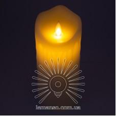 Свеча LED Lemanso 75*175мм 2700K 3xAAA (нет в компл.) IP20 / LM36004 (+пульт, еф. пламя)