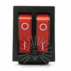 Переключатель  Lemanso  LSW04 двойной красный с подсветкой / KCD2-2101N