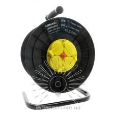 Катушка до 50м кабеля 4 гнезда с крышками 16A с/з Lemanso / LMK72005 защита от перегрузки