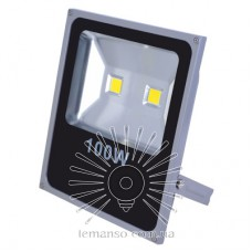 Прожектор LED 100w 6500K IP65 6500LM LEMANSO 2LED серый / LMP2-100