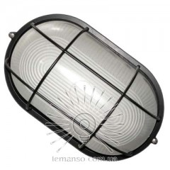 Светильник LEMANSO овал метал. 60W с реш. BL-1402 черный
