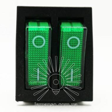 Переключатель  Lemanso  LSW04 двойной зелёный с подсветкой / KCD2-2101N описание, отзывы, характеристики