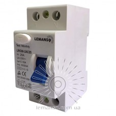 Диф.реле Lemanso 2п 63A 30mA RCCB LRC60