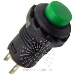 Кнопка Lemanso LSW33 круглая зелёная с фикс. ON-OFF / DS-228 1A 250VAC
