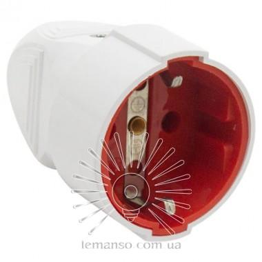 Гнездо прямое с заземлением белое Lemanso LMA3321 описание, отзывы, характеристики