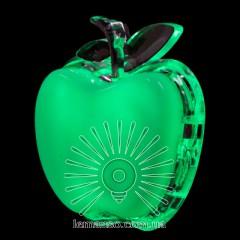 Ночник Lemanso Яблоко зелёный 3 LED / NL3
