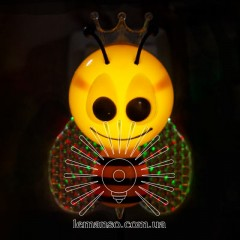 Ночник Lemanso Пчёлка 4 LED*RGB с сенсором жёлтая / NL162