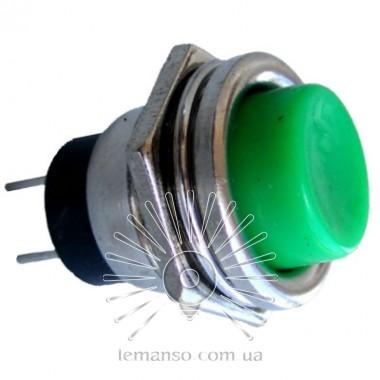 Кнопка Lemanso LSW14 круглая зелёная металл OFF-(ON)/ DS-212 описание, отзывы, характеристики