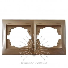 Рамка 2-я LEMANSO Сакура золото горизонтальная  LMR1211