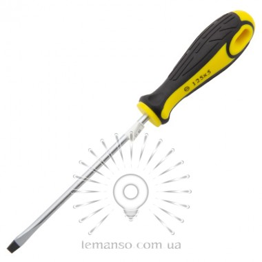 Отвертка плоская LEMANSO 5x125 LTL30005 желто-чёрная описание, отзывы, характеристики
