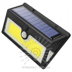Подсветка для стены COB Lemanso 5W 176LM IP65 6500K с д/движения и солн. батареей / LM33004 с аккум