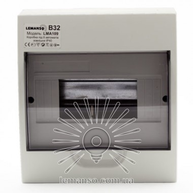 Коробка под 8 автоматов LEMANSO накладная, ABS / LMA109 описание, отзывы, характеристики
