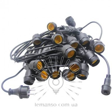 Гирлянда IP65 Lemanso 20 x E27 + кабель 10м + вилка (IP44) / LMA503 (разборная) (только LED) описание, отзывы, характеристики