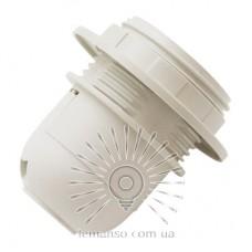 Патрон Е27 пластиковий з різьбою і кільцем Lemanso білий / LM2503