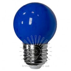 Лампа Lemanso LED G45 E27 1,2W синий шар / LM705