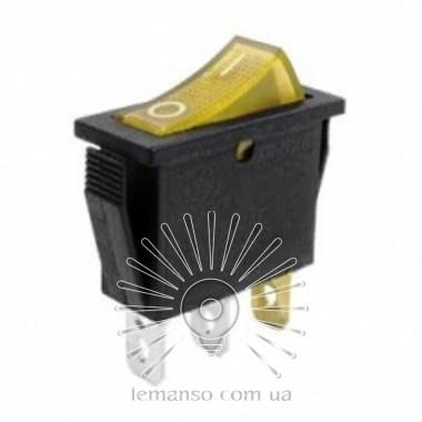 Переключатель  Lemanso  LSW01 узкий жёлтый с подсв. / KCD3-102N описание, отзывы, характеристики